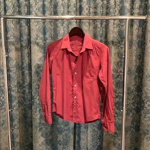 Frank and Eileen Barry collared shirt in burgundy
